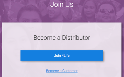 Join 4Life as distributor