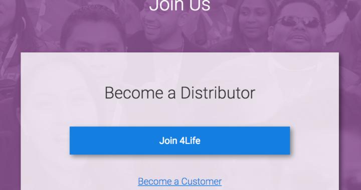 Join 4Life as distributor